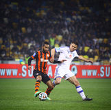 Football game FC Dynamo Kyiv vs Shakhtar Donetsk Royalty Free Stock Images
