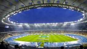 Football game FC Dynamo Kyiv vs Shakhtar Donetsk stock video