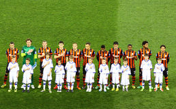 Football game FC Dynamo Kyiv vs Shakhtar Donetsk Stock Photos