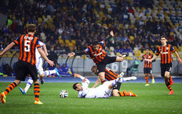 Football game FC Dynamo Kyiv vs Shakhtar Donetsk Stock Images