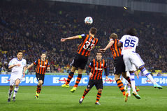 Football game FC Dynamo Kyiv vs Shakhtar Donetsk Stock Image