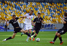 Football game FC Dynamo Kyiv vs Zorya Luhansk Royalty Free Stock Image