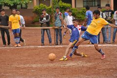 Football game in India Stock Photos