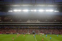 Football Game Kick-Off, UEFA Champions League 2014 Royalty Free Stock Image