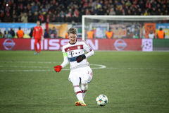 Football game Shakhtar Donetsk vs Bayern Munich Royalty Free Stock Photography