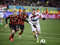 Football game Shakhtar Donetsk vs Bayern Munich Royalty Free Stock Photos