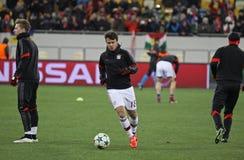 Football game Shakhtar Donetsk vs Bayern Munich Royalty Free Stock Images