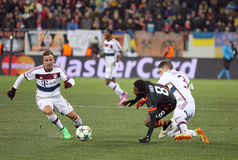 Football game Shakhtar Donetsk vs Bayern Munich Stock Images