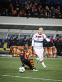 Football game Shakhtar Donetsk vs Bayern Munich Royalty Free Stock Photo