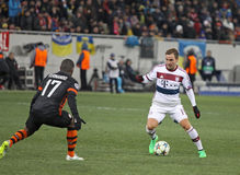 Football game Shakhtar Donetsk vs Bayern Munich Stock Photo