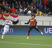 Football game Shakhtar Donetsk vs Bayern Munich Royalty Free Stock Images