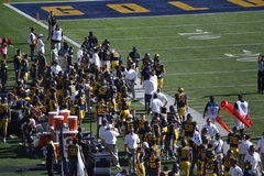Football Game Sidelines Cal Berkeley Stock Image