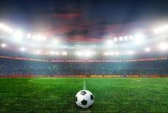 football game stadium Στοκ Φωτογραφία