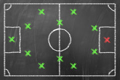 Football game strategy Royalty Free Stock Image