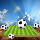 Football game tactics. Concept, Sport education Royalty Free Stock Image