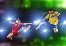 Football game royalty free stock photos