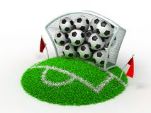 Football in Gate Stock Image