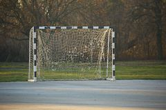 Football Gate in a Park Royalty Free Stock Images