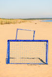 Football gate on sandy beach soccer goal Royalty Free Stock Photo