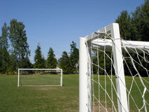 Football gates. Football field Royalty Free Stock Photography