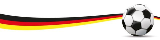 Football German Flag Long Header Royalty Free Stock Photos