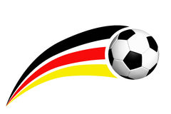 Football with Germany flag. Socker Ball with german stripes, black, red, gold Royalty Free Stock Photos