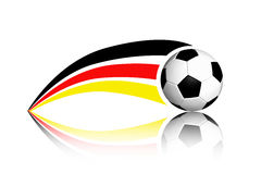 Football And Germany Flag. On A White Background royalty free illustration