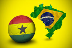 Football in ghana colours Stock Photo