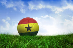 Football in ghana colours Royalty Free Stock Photography