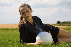 Football girl 1 Stock Images
