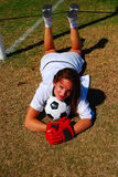 Football girl stock images