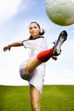 Football girl royalty free stock image