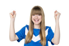 Football girl fist Stock Image