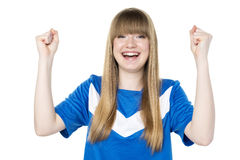 Football girl fist Royalty Free Stock Images