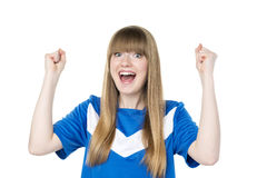 Football girl fist Royalty Free Stock Photos
