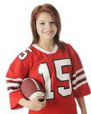 Football Girl Royalty Free Stock Photos