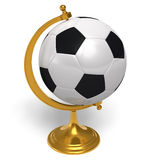 Football globe. Conceptual football globe isolated over white background Stock Photography