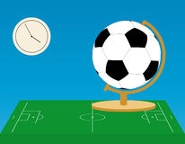 Football globe Stock Photography