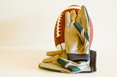 Football and Gloves Stock Photo