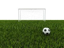 Football with goal Stock Photography