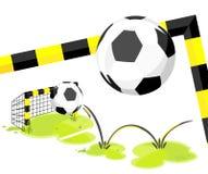 Football_goal lizenzfreie abbildung