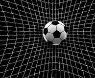 Football goal. Editable vector illustration of a football hitting the back of the net Royalty Free Stock Images