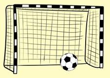 Football goal and ball Stock Photos