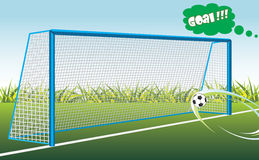 Football goal. Banner for design Stock Photography