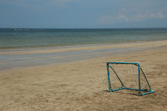 Football goal on the beach Royalty Free Stock Photography