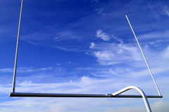 Football goal on blue sky Royalty Free Stock Image