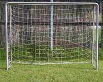 Football goal without a goalkeeper Stock Photo