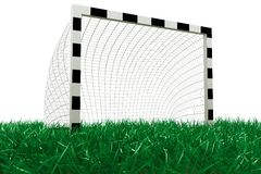 Football goal on grass Stock Image