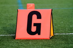 Football goal line marker Stock Photos