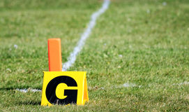 Football goal markers Royalty Free Stock Photography
